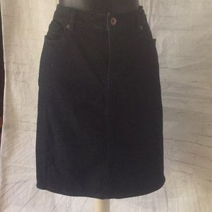 Lands End Jeans Skirt